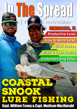 Coastal Snook Lure fishing video with Captain William Toney from In The Spread