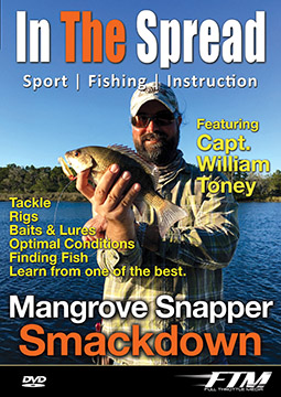 Mangrove snapper fishing video with William Toney from In The Spread