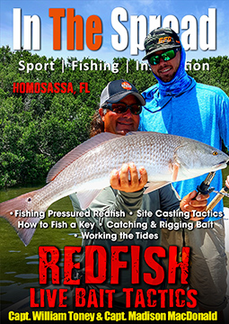 Redfish Live Bait Tactics Fishing video with Captain William Toney from In The Spread