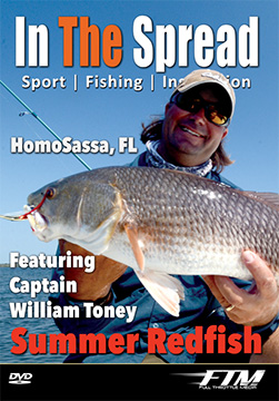 Redfish fishing video with Capt. William Toney from In The Spread